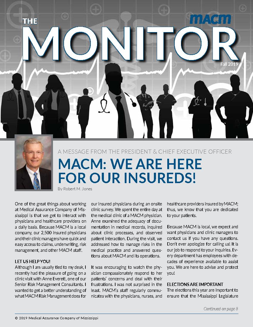 MACM Monitor Fall 2019