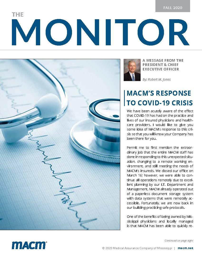Fall 2020 MACM Monitor